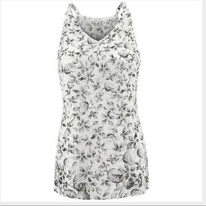 Cabi Terrace Cami, Moody Floral, S, NEW, Gray